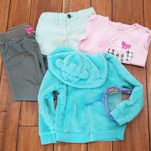 Bundle of 3T and 4T girls' clothing